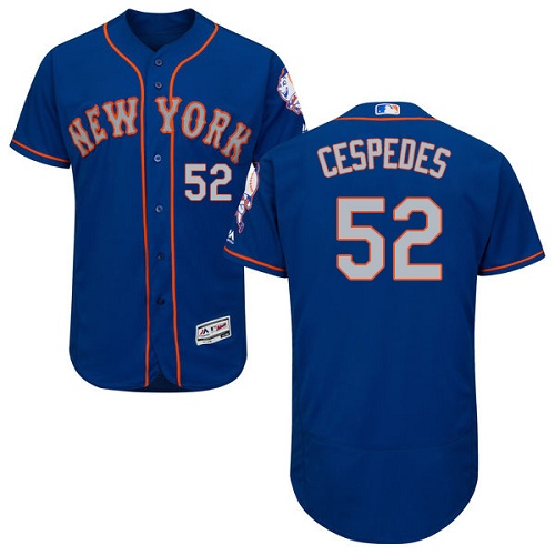 Mets 52 Yoenis Cespedes Blue Alternate Flexbase Jersey