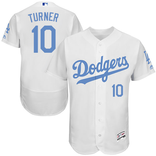 Dodgers 10 Justin Turner White Father's Day Flexbase Jersey