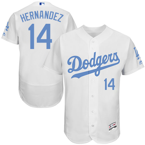 Dodgers 14 Enrique Hernandez White Father's Day Flexbase Jersey