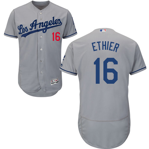 Dodgers 16 Andre Ethier Gray Collection Player Flexbase Jersey