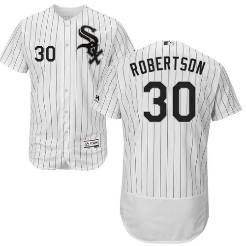 White Sox 30 David Robertson White Flexbase Jersey