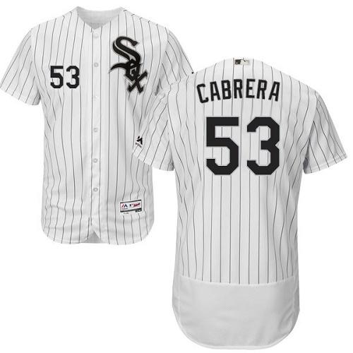 White Sox 53 Melky Cabrera White Flexbase Jersey