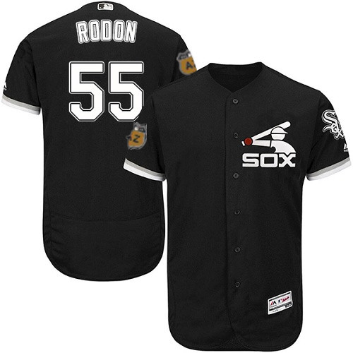 White Sox 55 Carlos Rodon Black 2017 Spring Training Flexbase Jersey