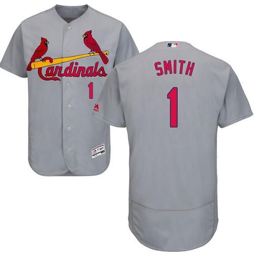 Cardinals 1 Ozzie Smith Gray Flexbase Jersey