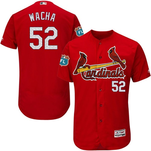 Cardinals 52 Michael Wacha Red 2017 Spring Training Flexbase Jersey