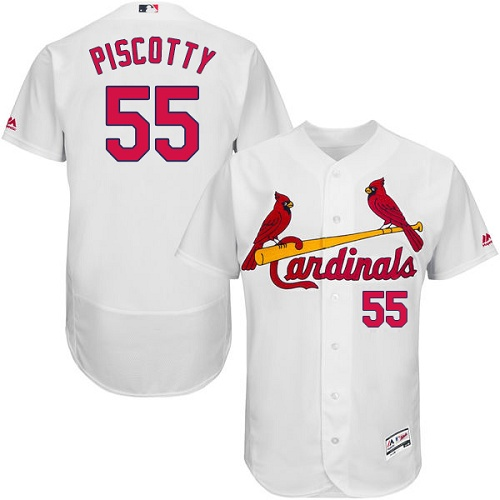 Cardinals 55 Stephen Piscotty White Flexbase Jersey