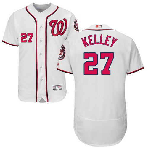 Nationals 27 Shawn Kelley White Flexbase Jersey