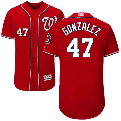 Nationals 47 Gio Gonzalez Red Flexbase Jersey