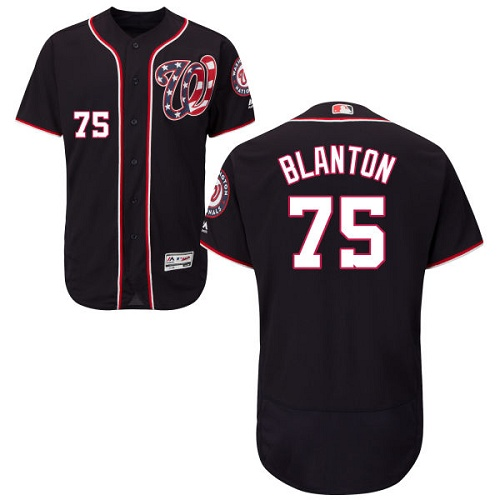Nationals 75 Joe Blanton Navy Flexbase Jersey