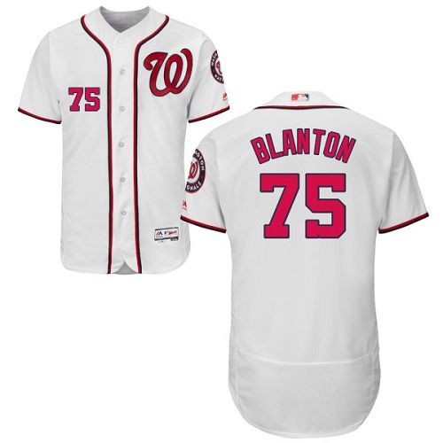 Nationals 75 Joe Blanton White Flexbase Jersey