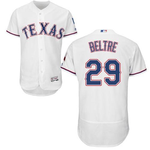 Rangers 29 Adrian Beltre White Flexbase Jersey