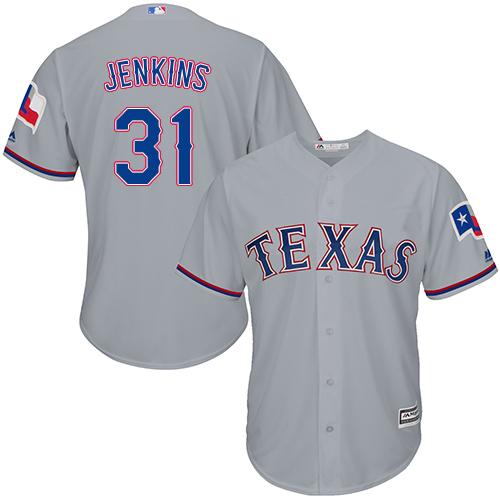 Rangers 31 Eric Jenkins Gray Cool Base Jersey