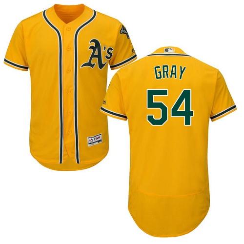 Athletics 54 Sonny Gray Yellow Flexbase Jersey