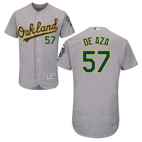 Athletics 57 Alejandro De Aza Gray Flexbase Jersey