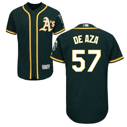 Athletics 57 Alejandro De Aza Green Flexbase Jersey