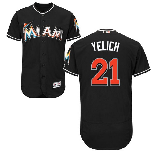 Marlins 21 Christian Yelich Black Flexbase Jersey