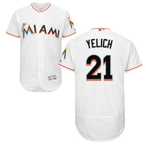 Marlins 21 Christian Yelich White Flexbase Jersey