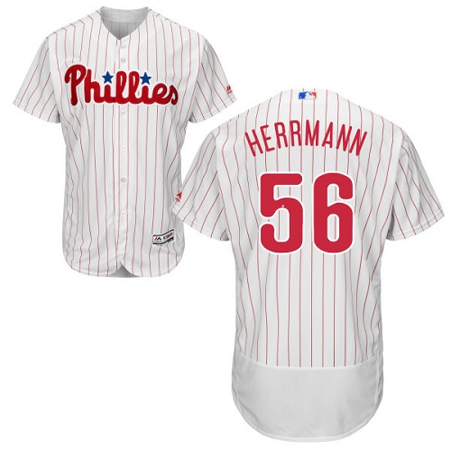 Phillies 56 Frank Herrmann White Flexbase Jersey