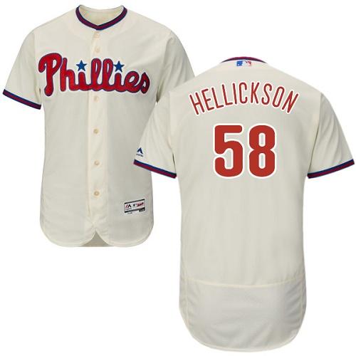 Phillies 58 Jeremy Hellickson Cream Flexbase Jersey