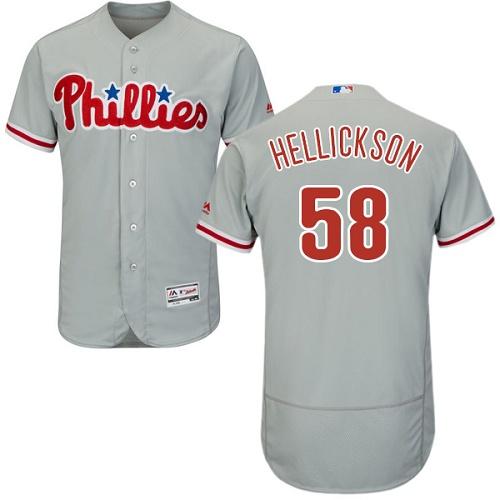 Phillies 58 Jeremy Hellickson Gray Flexbase Jersey