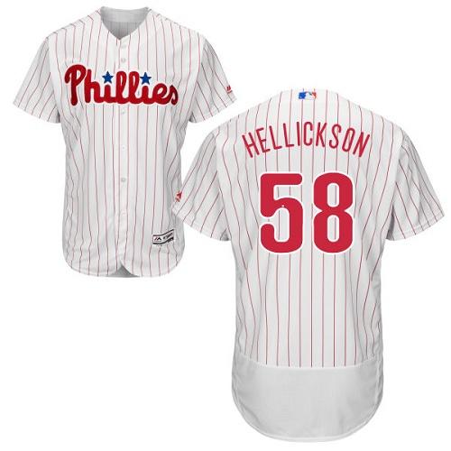 Phillies 58 Jeremy Hellickson White Flexbase Jersey