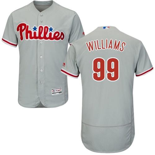 Phillies 99 Nick Williams Gray Flexbase Jersey