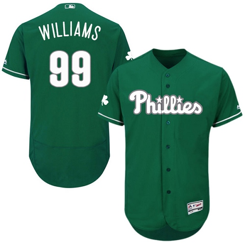 Phillies 99 Nick Williams Green Celtic Flexbase Jersey