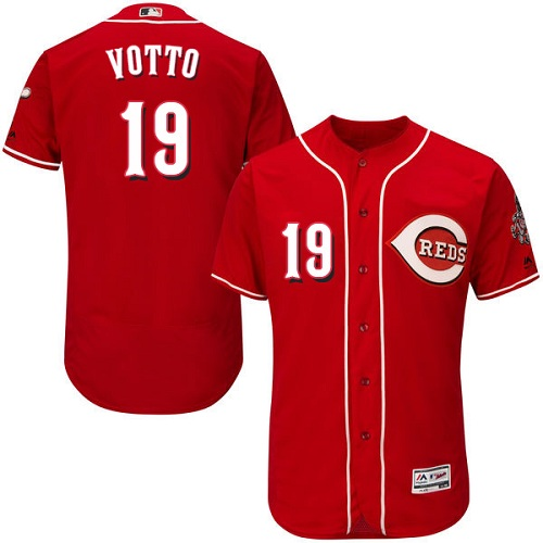 Reds 19 Joey Votto Red Flexbase Jersey