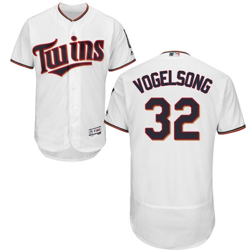 Twins 32 Ryan Vogelsong White Flexbase Jersey
