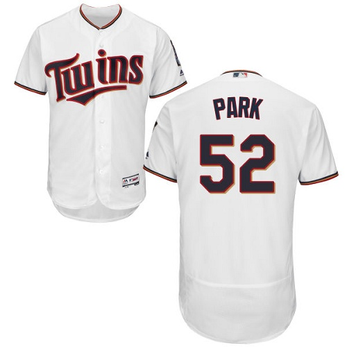 Twins 52 Byung Ho Park White Flexbase Jersey