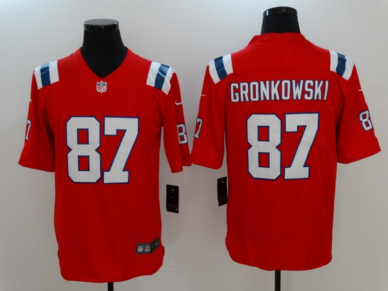 Nike Patriots 87 Rob Gronkowski Red Youth Vapor Untouchable Player Limited Jersey