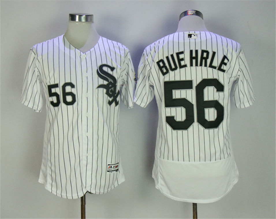 White Sox 56 Mark Buehrle White 2005 MLB World Series Champions Flexbase Jersey