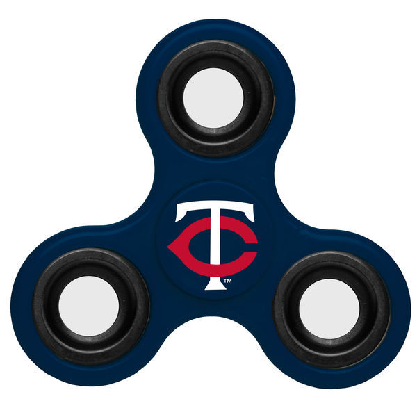 Twins Team Logo Blue Fidget Spinner