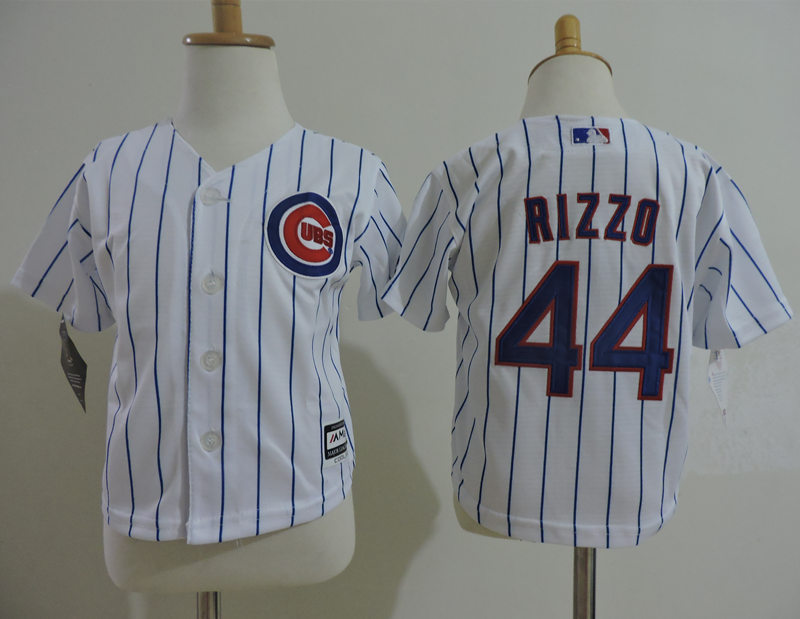 Cubs 44 Anthony Rizzo White Toddler Cool Base Jersey