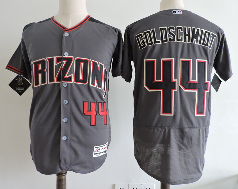 Diamondbacks 44 Paul Goldschmidt Gray Brick Flexbase Jersey
