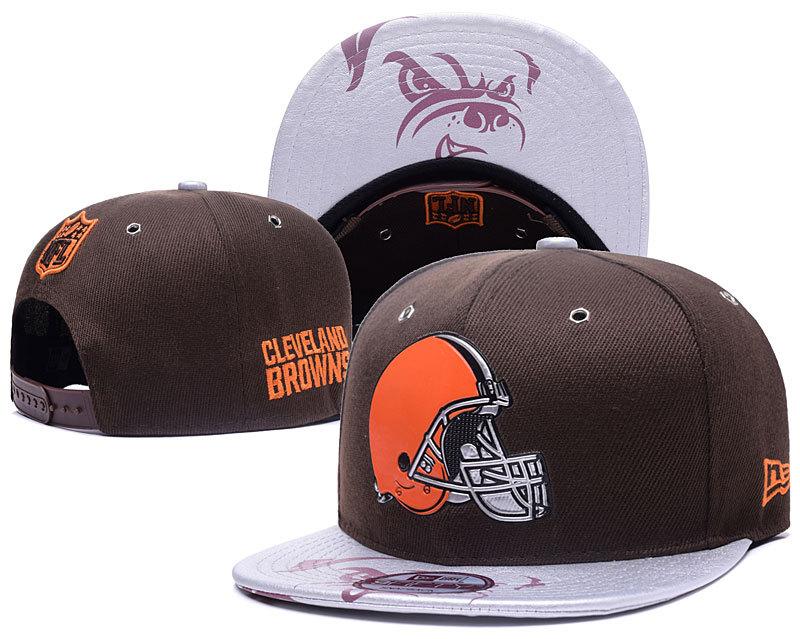 Browns Team Logo Brown Adjustable Hat YD