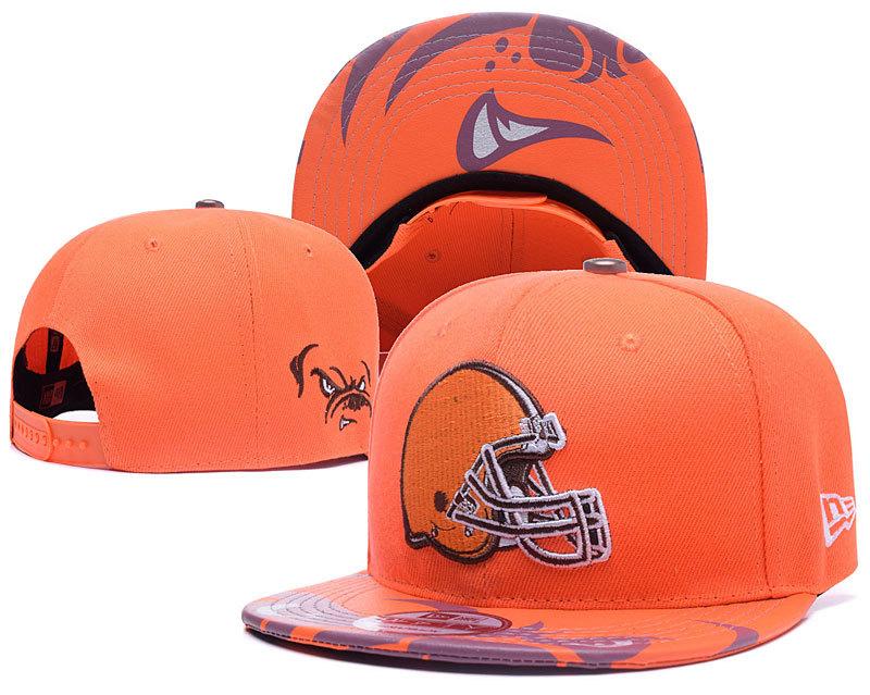 Browns Team Logo Orange Adjustable Hat YD