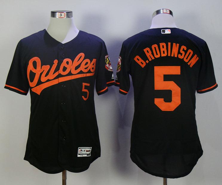 Orioles 5 Brooks Robinson Black Flexbase Jersey