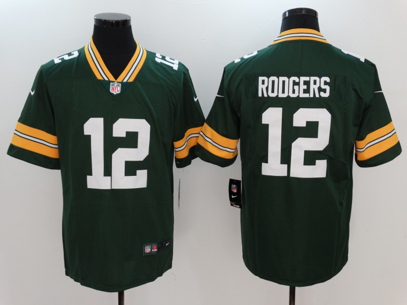 Nike Packers 12 Aaron Rodgers Green Vapor Untouchable Player Limited Jersey