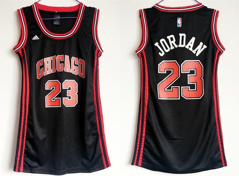 Bulls 23 Michael Jordan Black Women Swingman Jersey