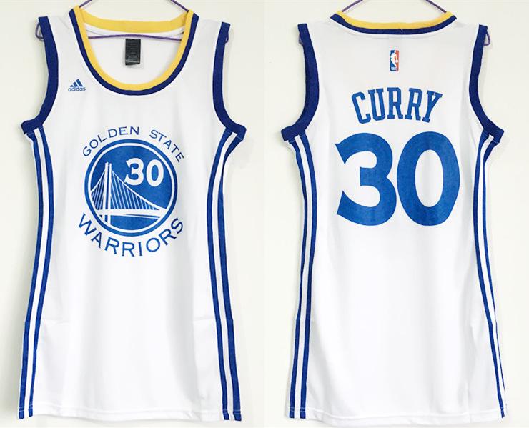 Warriors 30 Stephen Curry White Women Swingman Jersey