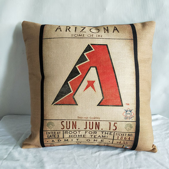 Arizona Diamondbacks Baseball Pillow