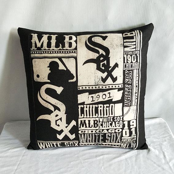 Chicago White Sox Baseball Pillow