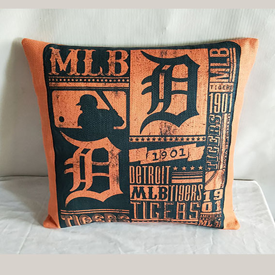 Detroit Tigers Baseball Pillow