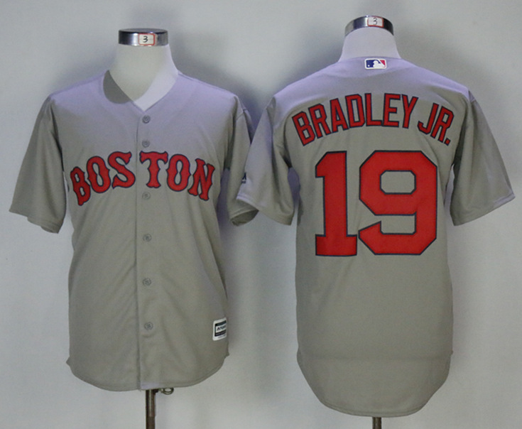 Red Sox 19 Jackie Bradley Jr. Gray Cool Base Jersey