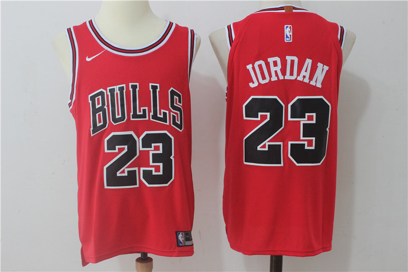 Bulls 23 Michael Jordan Red Nike Authentic Jersey(Without the sponsor logo)