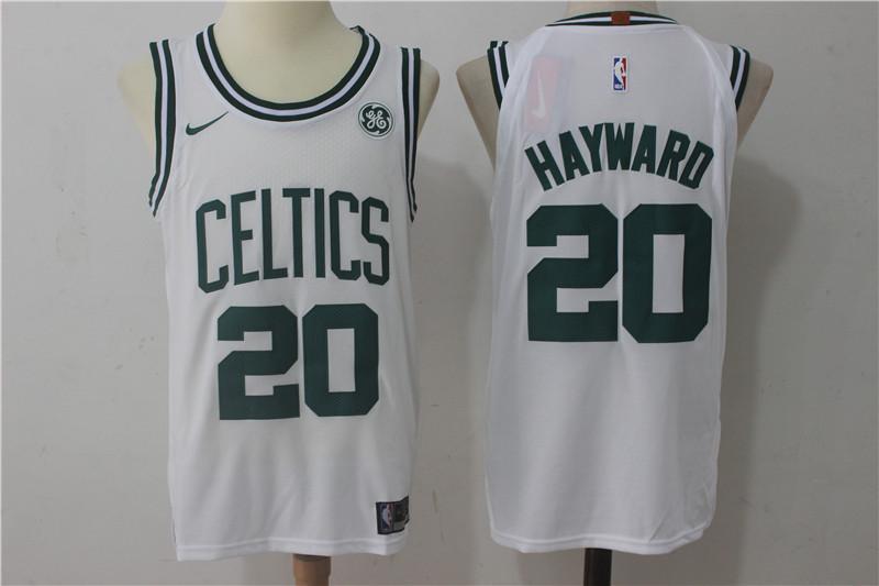 Celtics 20 Gordon Hayward White Nike Authentic Jersey