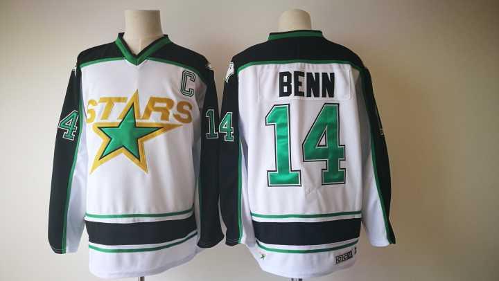 Stars 14 Jamie Benn White CCM Jersey