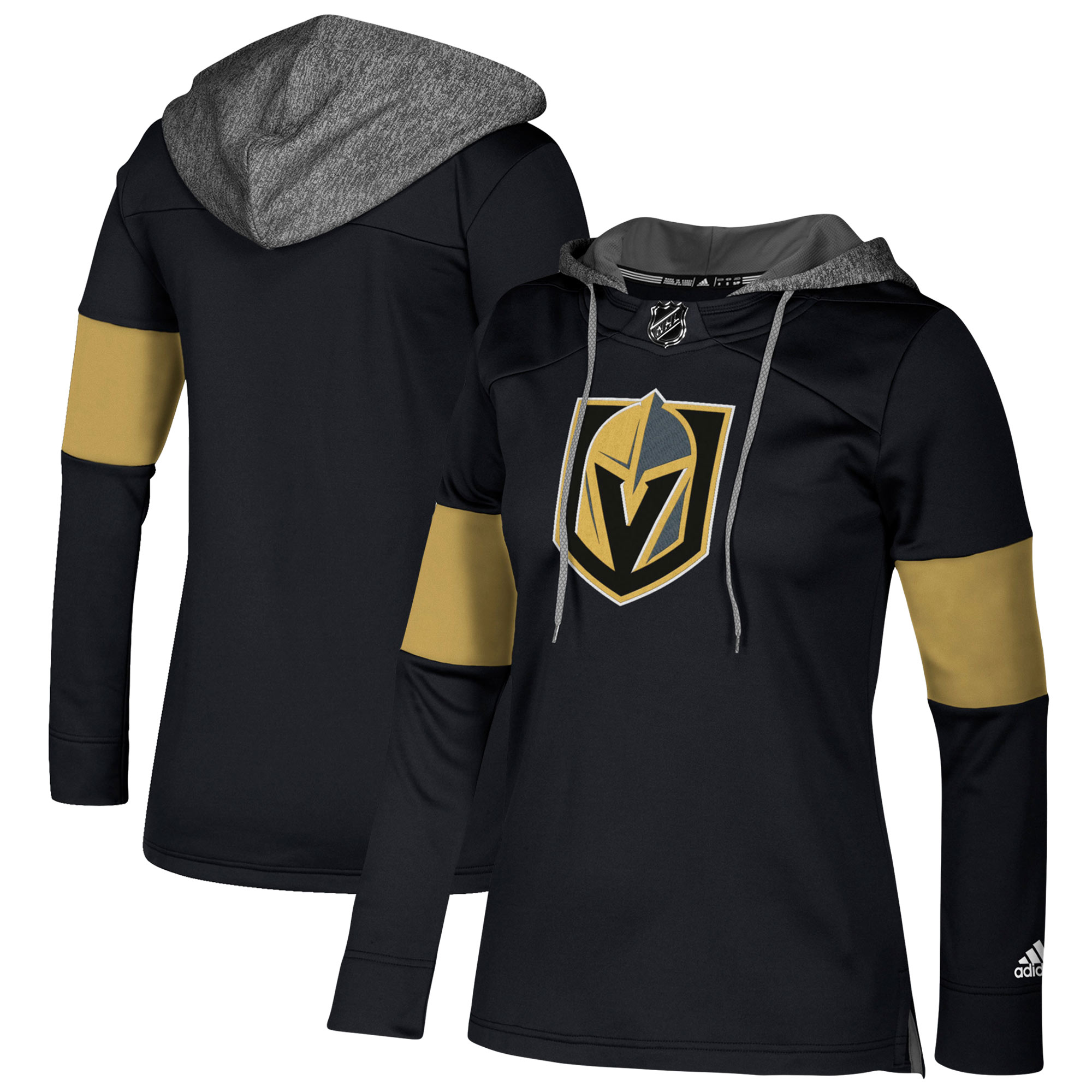 Vegas Golden Knights Black Women's Customized All Stitched Hooded Sweatshirt