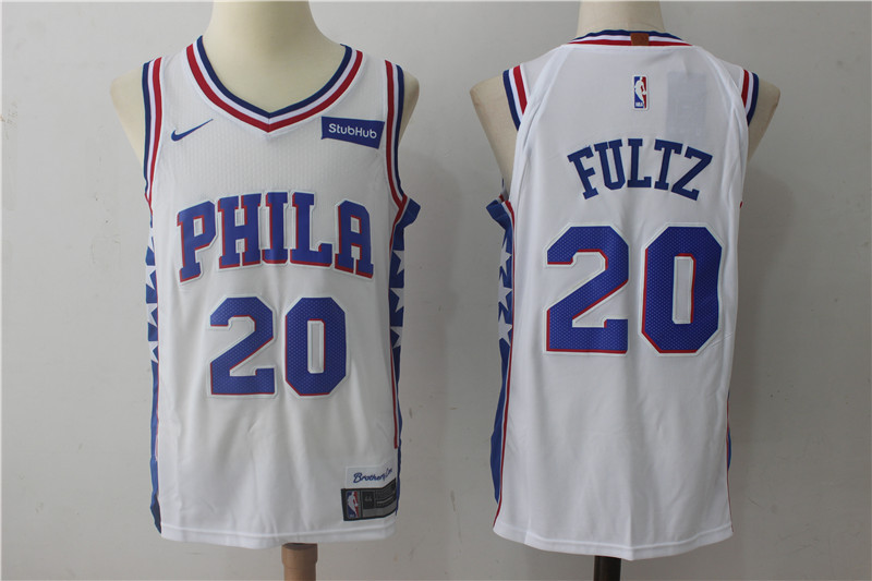 76ers 20 Markelle Fultz White Nike Authentic Jersey